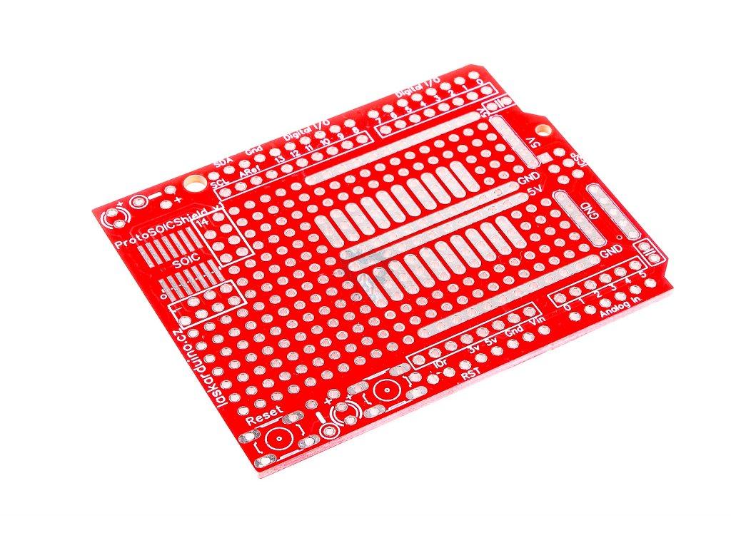 LaskaKit Arduino UNO PCB prototypová deska Shield SOIC