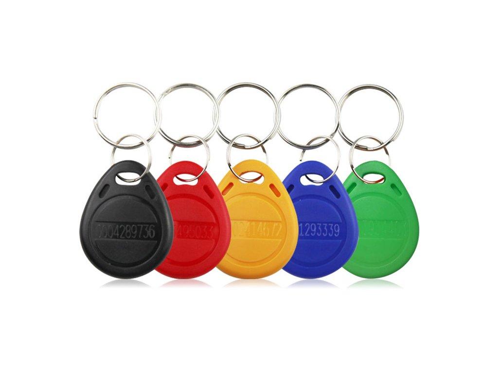 RFID EM4100 125kHz nepřepisovatelná token klíčenka