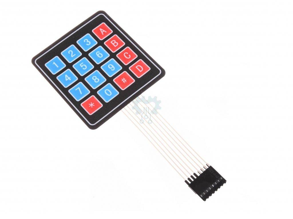 4x4 Maticová membránová klávesnice