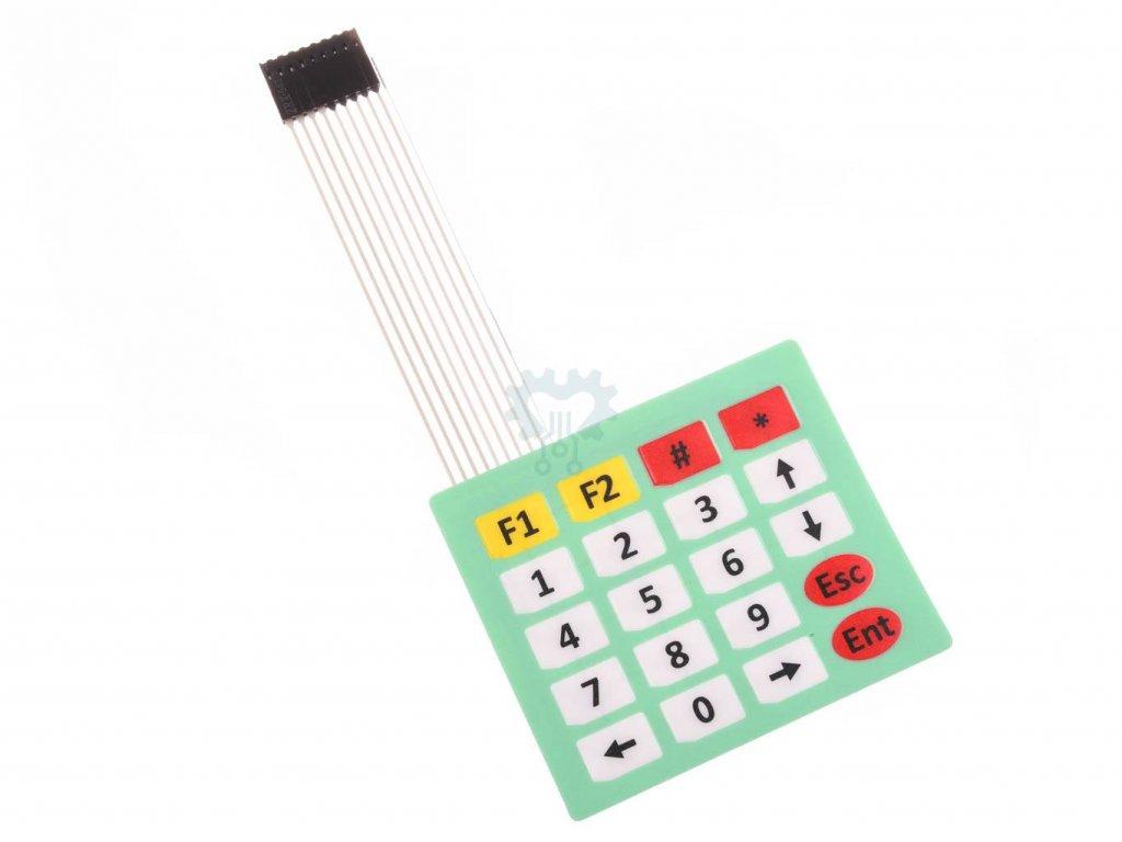 Arduino 4x5 Maticová membránová klávesnice