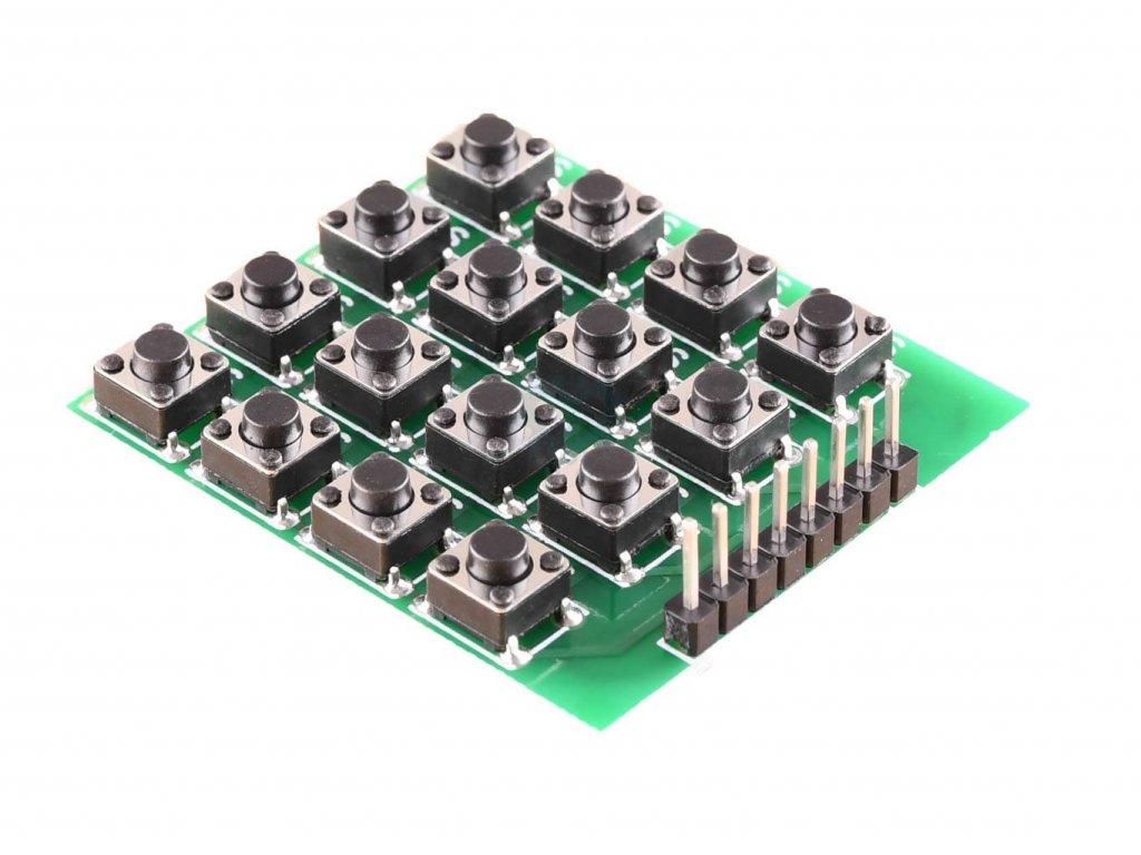 Arduino 4x4  Maticová tlačítková klávesnice