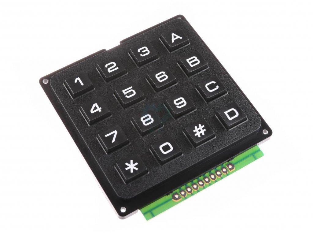 4x4  Maticová tlačítková klávesnice Plastová