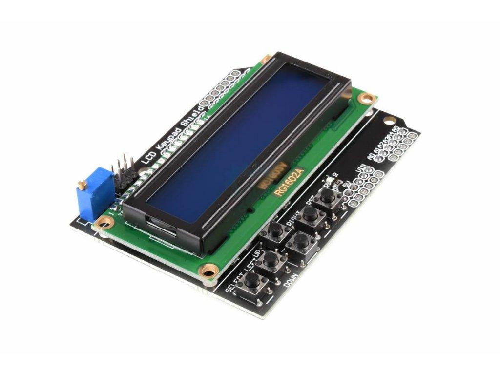 Arduino 1602 LCD + klávesnice shield