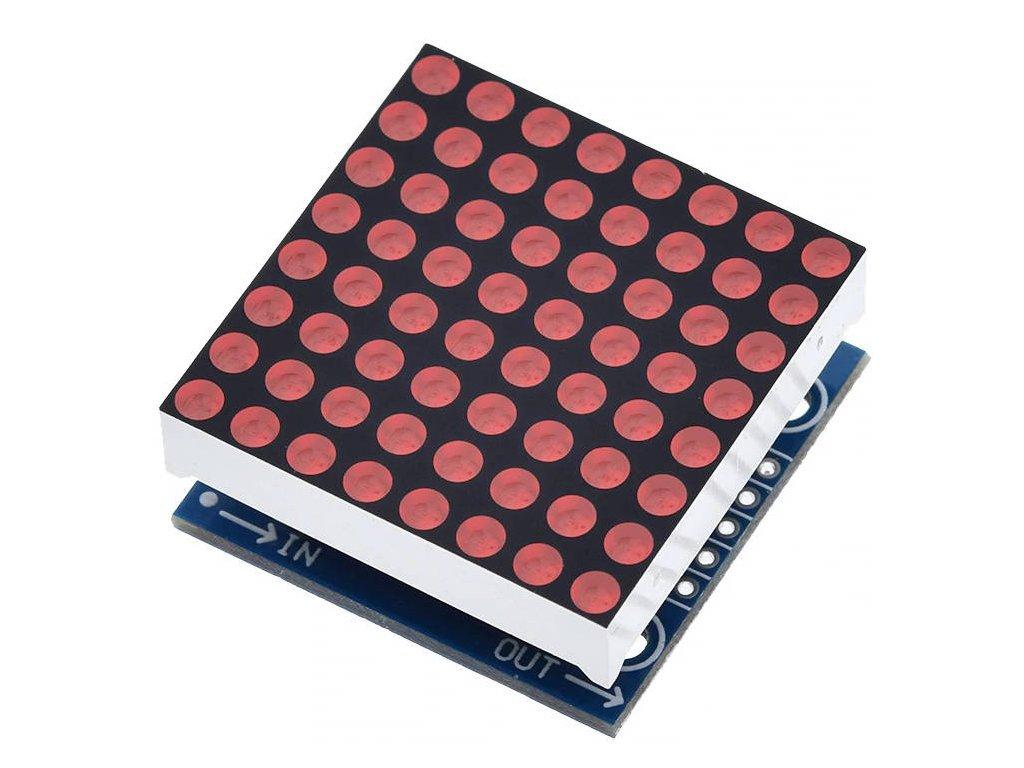 8x8 LED matice s MAX7219 3mm červená