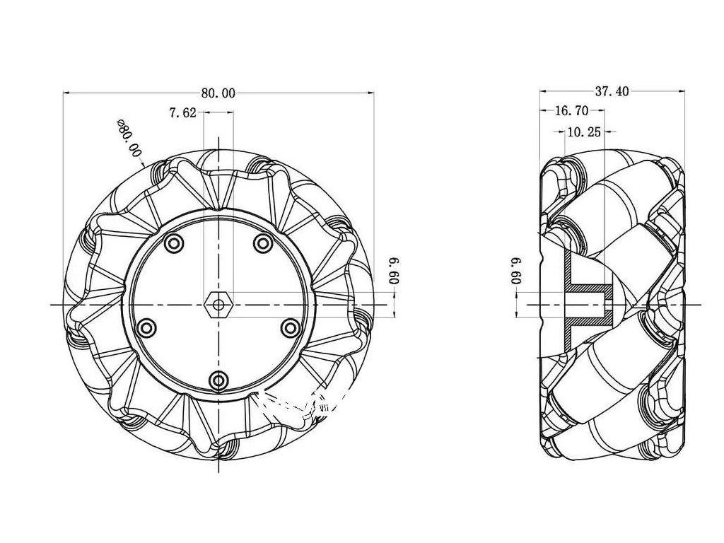 4pcs 60mm Mecanum Omni Wheel 4pcs TT Motor 4pcs TT Motor Brac