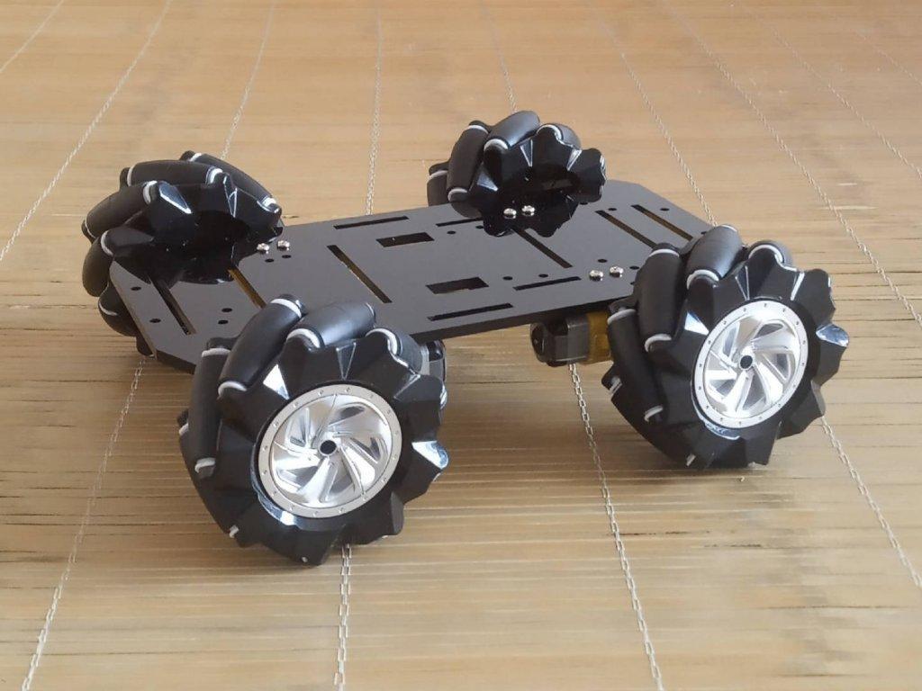 Stavebnice robotického podvozku s Mecanum Omni koly ø80mm