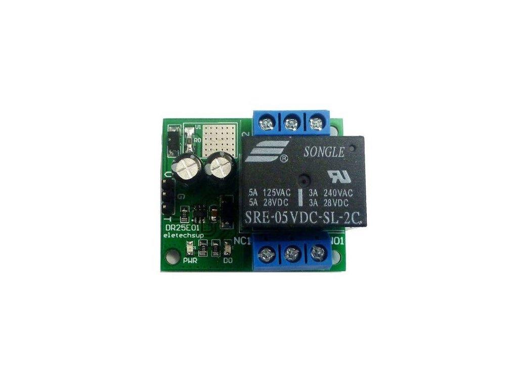 1-kanál 5V bistabilní relé modul, Low level, 250VAC 2x3A