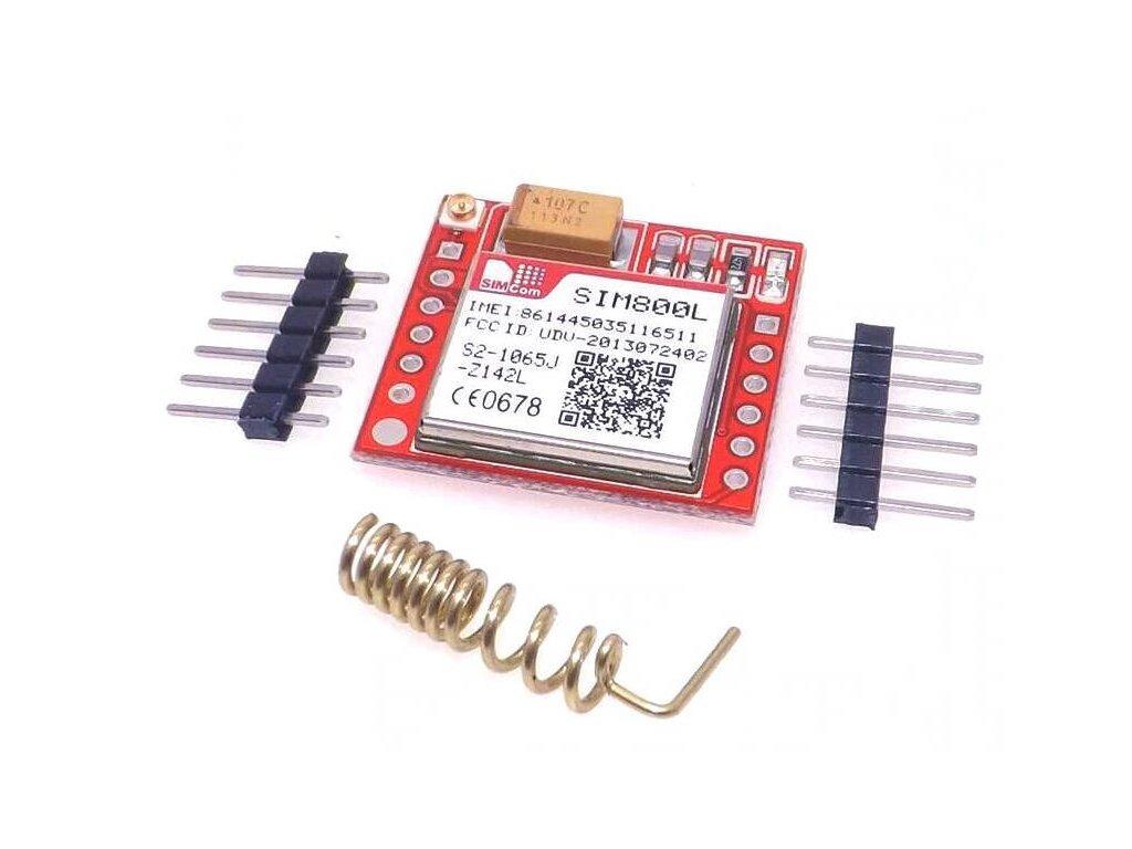 GPRS GSM Module SIM800L microSIM, Quad-band, TTL
