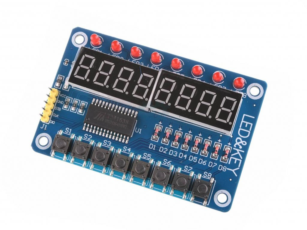 Ovládací panel TM1638 s LED