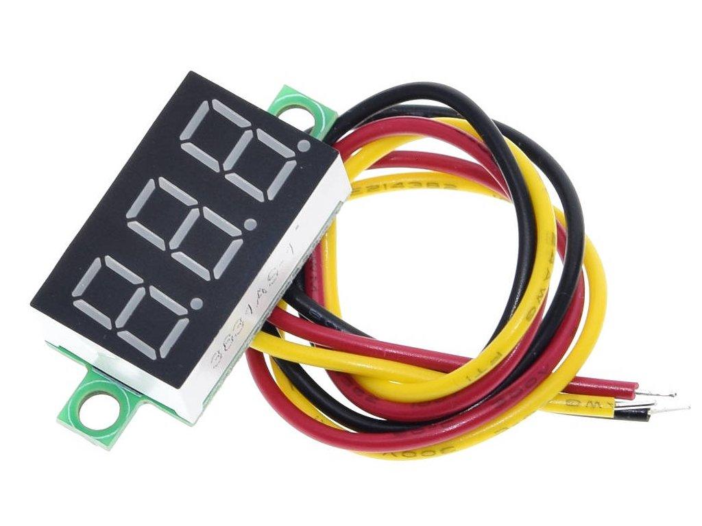 "0.36"" Mini digitální voltmetr 0-100V"