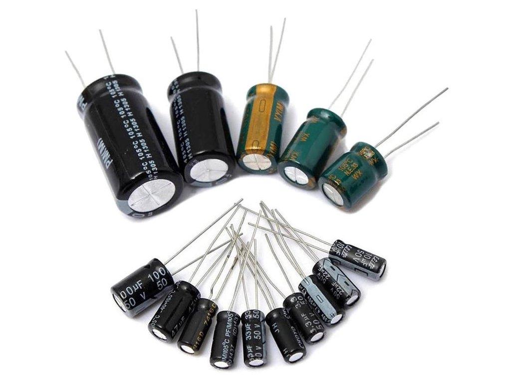 125pcs lot 25value 1uF 2200uF Electrolytic Capacitor Kit 16V 25V 50V Electrolytic Capacitors Assortment set 1000UF.jpg Q90.jpg .webp