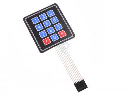 4x3 Maticová membránová klávesnice