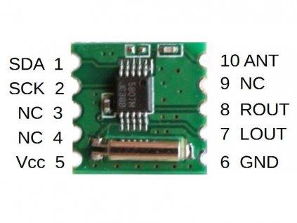 Arduino FM tuner 50MHz - 115MHz RDA5807M