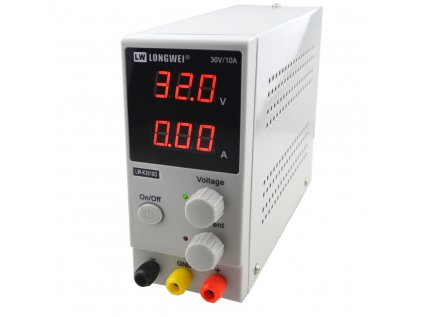 LONGWEI LW-K3010D Laboratorní zdroj 30V, 10A