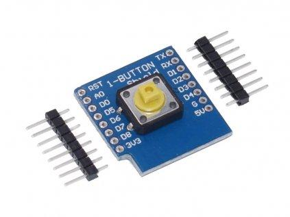 Wemos D1 mini shield s tlačítkem