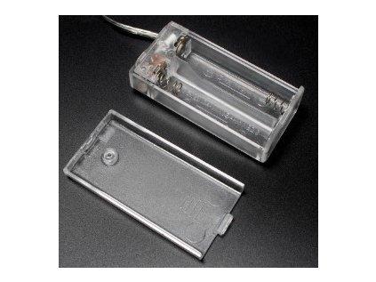 Bateriový box 2xAA uzavřený s vypínačem