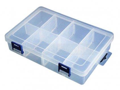 Transparentní krabička 2x4 8 přihrádek
