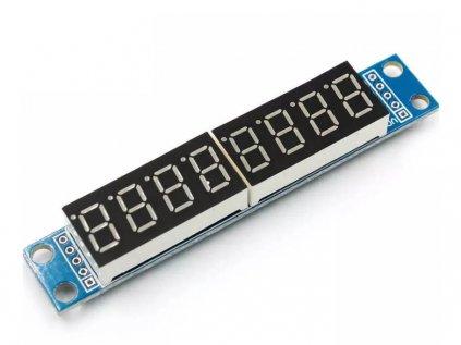 LED displej - 7 segmentový, 8 znaků MAX7219 - červený