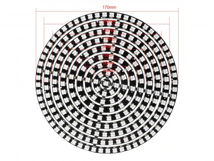 241x inteligentní RGB LED NeoPixel kruh Ø170, WS2812B, 5050, 5V